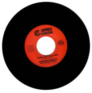 """Simpson Uniquity Feat. Diplomats Of Soul - Running Away (Funky Vibes) / (Diplomats Of Soul Dub) 45 (Expansion) 7"""" Vinyl"""