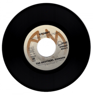 """The Brothers Johnson - Stomp / Let's Swing 45 (A&M) 7"""" Vinyl"""