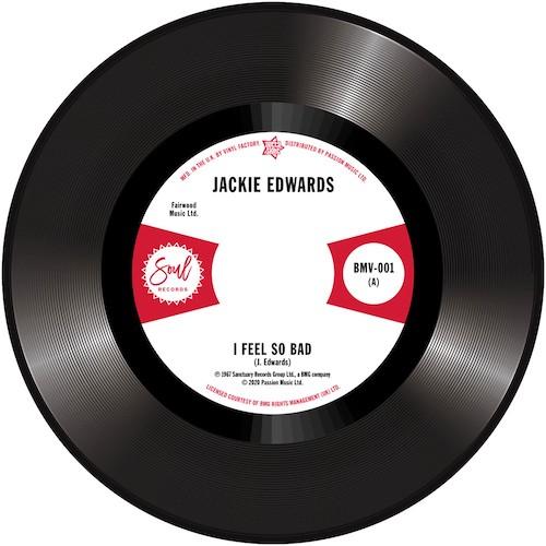 "Jackie Edwards - I Feel So Bad / Del Davis - Baby Don't Wake Me 45 (Outta Sight) 7"" Vinyl"