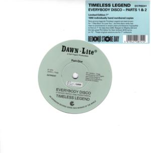 "Timeless Legend - Everybody Disco (Part 1) / Everybody Disco (Part 2) 45 (Expansion) 7"" Vinyl"