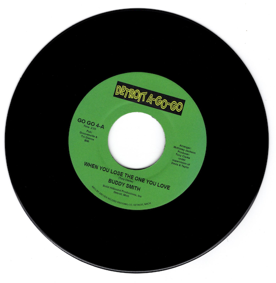 """Buddy Smith - When You Lose The One You Love / Tokays - Baby, Baby, Baby (You're My Hearts Desire) 45 (Detroit A Go Go) 7"""" Vinyl"""