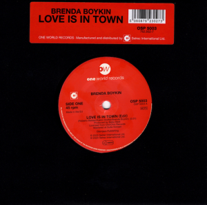 "Brenda Boykin - Love Is In Town / Hard Swing Travellin' Man 45 (One World) 7"" Vinyl"