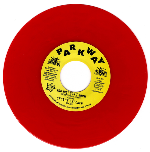 """Chubby Checker - You Just Don't Know (What You Do To Me) / (At The) Discotheque 45 (Outta Sight) RED 7"""" Vinyl"""