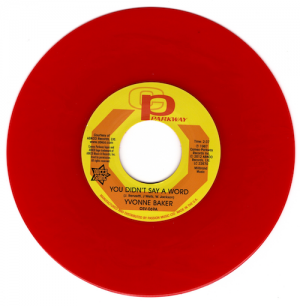 "Yvonne Baker - You Didn't Say A Word / Hattie Winston - Pictures..45 (Outta Sight) RED 7"" Vinyl"