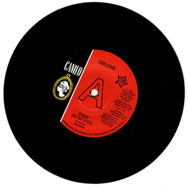 """Orlons - Envy (In My Eyes) / No Love But Your Love DEMO 45 (Outta Sight) 7"""" Vinyl"""