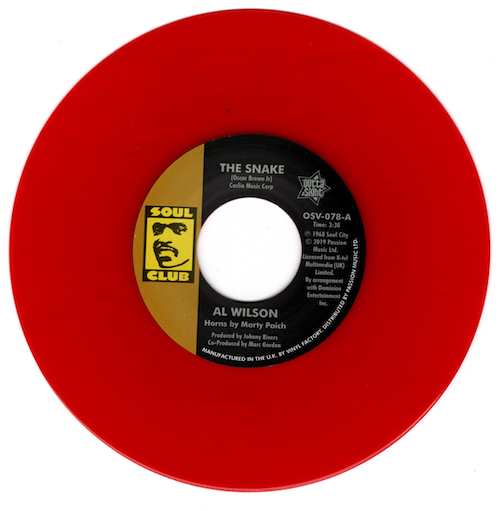 """Al Wilson - The Snake / Show And Tell 45 (Outta Sight) RED 7"""" Vinyl"""