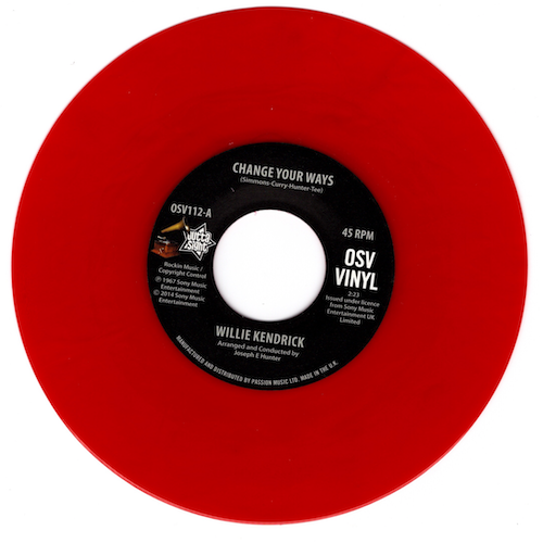 "Willie Kendrick - Change Your Ways / What's That On Your Finger 45 (Outta Sight) RED 7"" Vinyl"