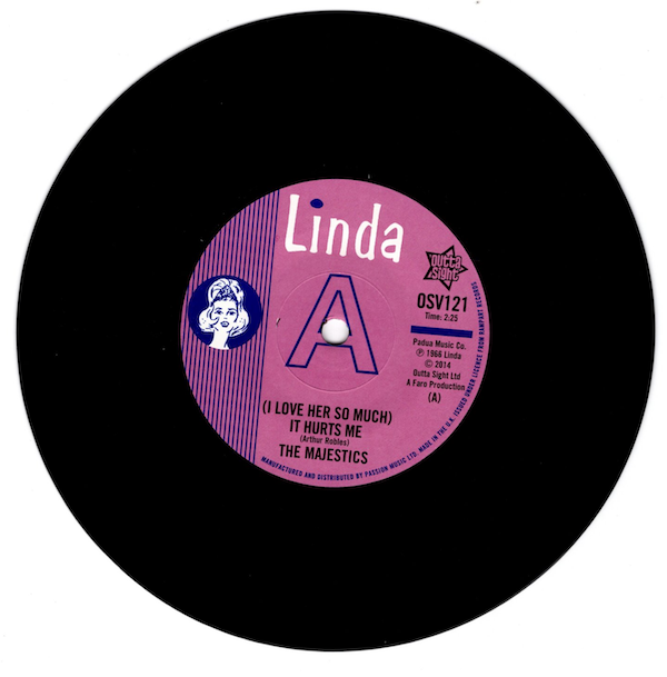 "Majestics - (I Love Her So Much) It Hurts Me / David Ruben With The Majestics – (I Love Her.. DEMO 45 (Outta Sight) 7"" Vinyl"