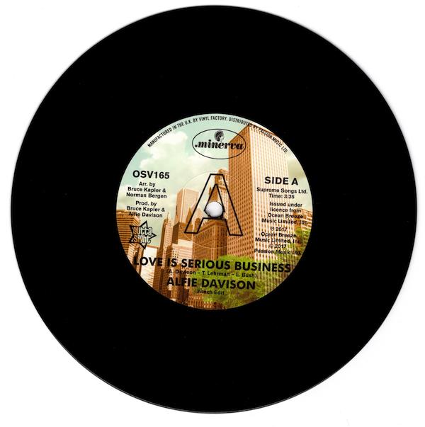 "Alfie Davison - Love Is A Serious Business (7"" Edit) /(12"" Edit) DEMO 45 (Outta Sight) 7"" Vinyl"