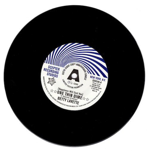"Betty Lavette - (Happiness Will Cost You) One Thin Dime / Nella Dodds - First Date NUMBERED PROMO 45 (Outta Sight) 7"" Vinyl"