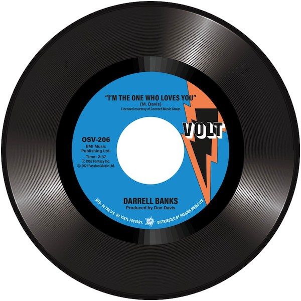 """Darrell Banks - I'm The One Who Loves You / Forgive Me 45 (Outta Sight) 7"""" Vinyl"""