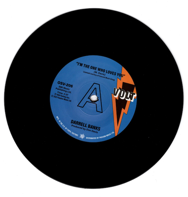 """Darrell Banks - I'm The One Who Loves You / Forgive Me DEMO 45 (Outta Sight) 7"""" Vinyl"""