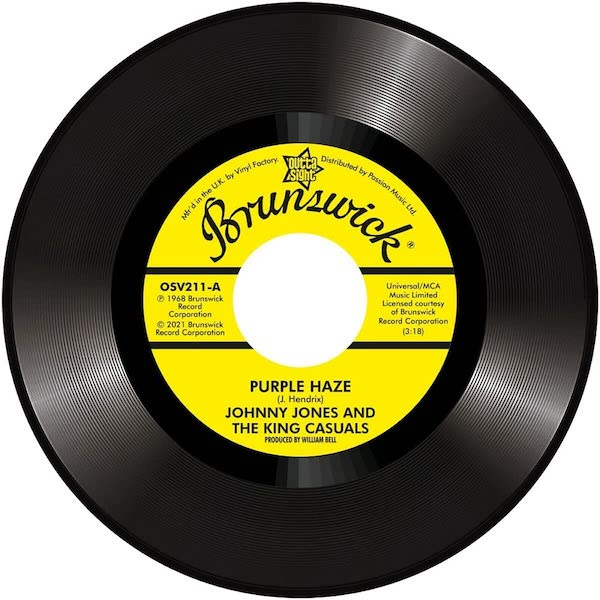 """Johnny Jones & The King Casuals - Purple Haze / Gene Chandler - There Was A Time 45 (Outta Sight) 7"""" Vinyl"""
