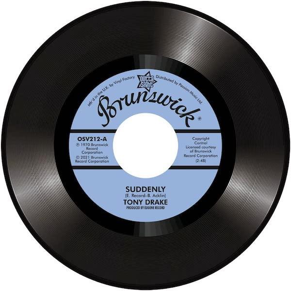 """Tony Drake - Suddenly / Gene Chandler - My Baby's Gone 45 (Outta Sight) 7"""" Vinyl"""