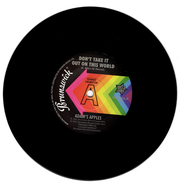 """Adam's Apples - Don't Take It Out On This World / The Cooperettes - Shing-A-Ling DEMO 45 (Outta Sight) 7"""" Vinyl"""