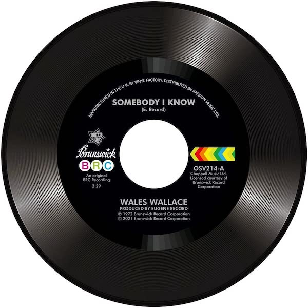 """Wales Wallace - Somebody I Know / Walter Jackson - Let Me Come Back 45 (Outta Sight) 7"""" Vinyl"""