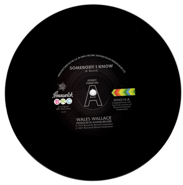 """Wales Wallace - Somebody I Know / Walter Jackson - Let Me Come Back DEMO 45 (Outta Sight) 7"""" Vinyl"""
