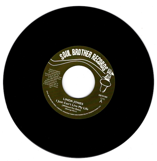 "Linda Jones - I Just Can't Live My Life (Without You Babe) / My Heart 45 (Soul Brother) 7"" Vinyl"