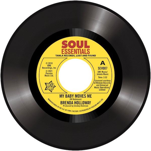 "Brenda Holloway - My Baby Moves Me / Spellbound 45 (Outta Sight) 7"" Vinyl"