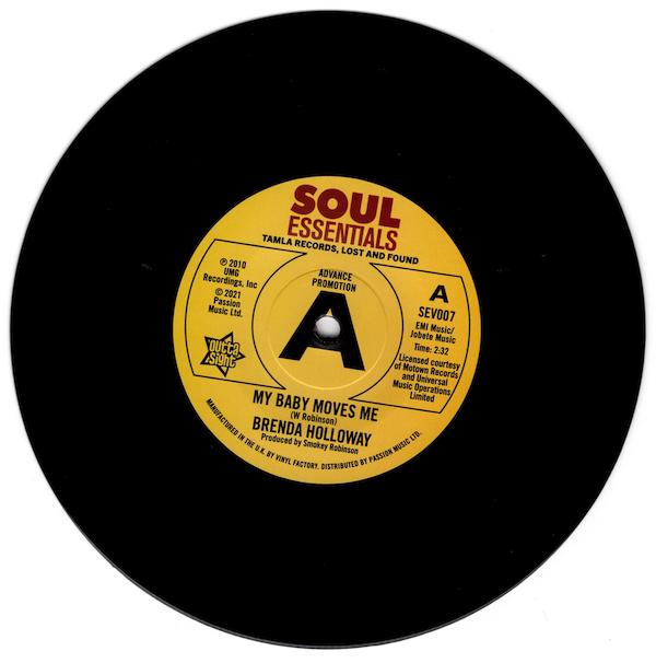 "Brenda Holloway - My Baby Moves Me / Spellbound DEMO 45 (Outta Sight) 7"" Vinyl"