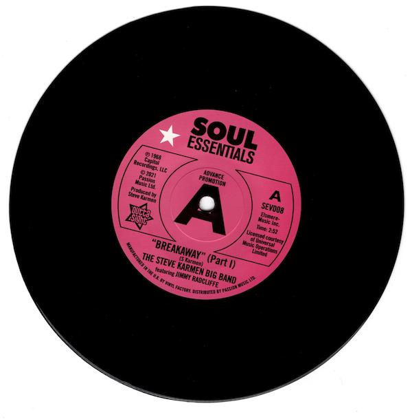 """Steve Karmen Big Band Feat Jimmy Radcliffe - Breakaway (Part 1) / Breakaway (Part 2) DEMO 45 (Outta Sight) 7"""" Vinyl"""