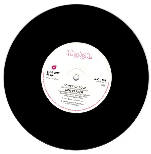 "Don Varner - Power Of Love / Masquerade 45 (Shotgun) 7"" Vinyl"