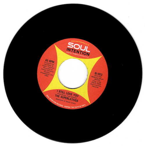 "Superlatives - I Still Love You / The Movement 45 (Soul Intention) 7"" Vinyl"