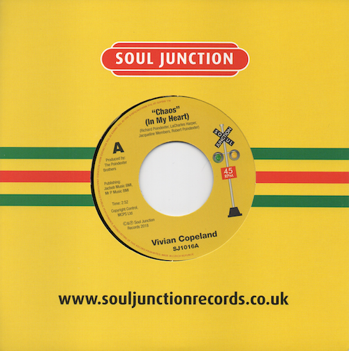 """Vivian Copeland - Chaos (In My Heart) / Poindexter Brothers - What I Did In The Streets 45 (Soul Junction) 7"""" Vinyl"""
