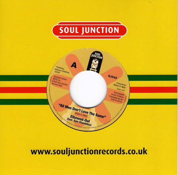 """Elbowed-Out Feat Sam Chambliss - All Men Don't Love The Same / Believe It 45 (Soul Junction) 7"""" Vinyl"""