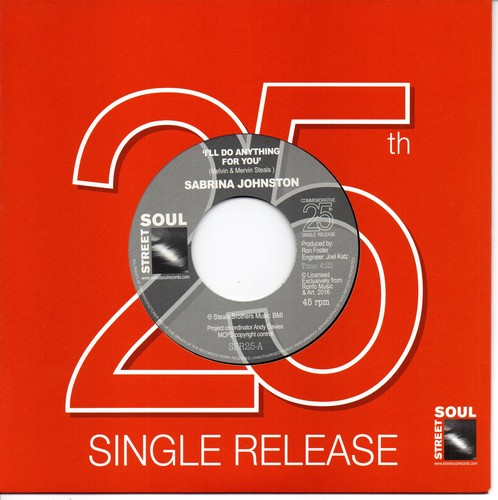 "Sabrina Johnston - I'll Do Anything For You / We've Only Just Begun 45 (Street Soul) 7"" Vinyl"
