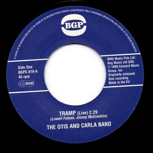 "Otis & Carla Band - Tramp / Louise McCord - Better Get A Move On 45 (BGP) 7"" Vinyl"
