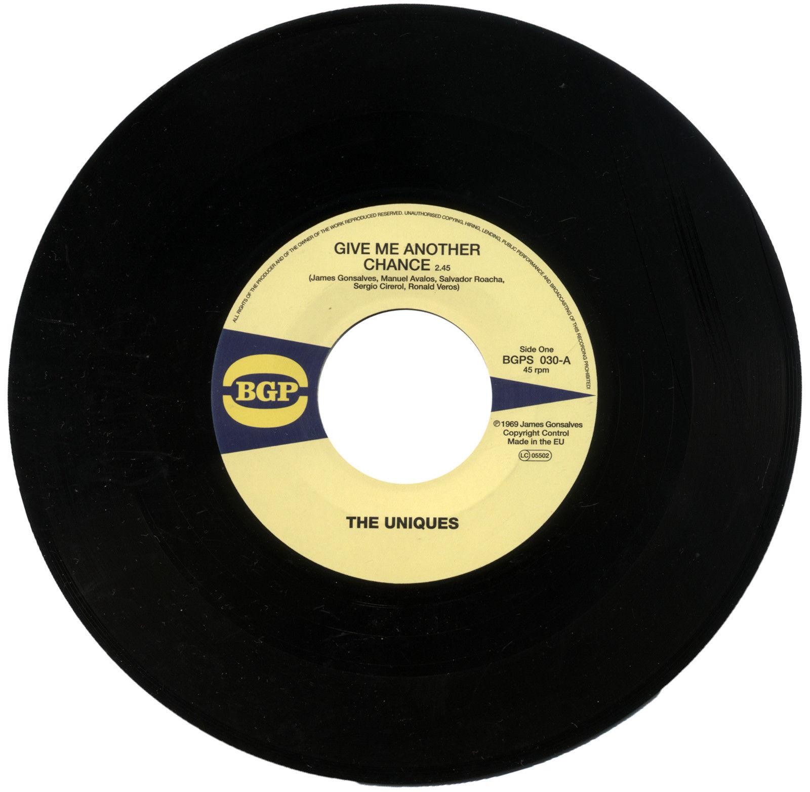 Uniques – Give Me Another Chance / The Eternal Flames – Hi Off Life 45 (BGP) 7″ Vinyl