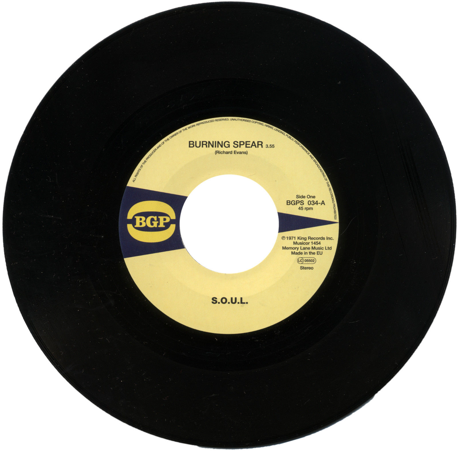 S.O.U.L – Burning Spear / Do What Ever You Want To Do 45 (BGP) 7″ Vinyl