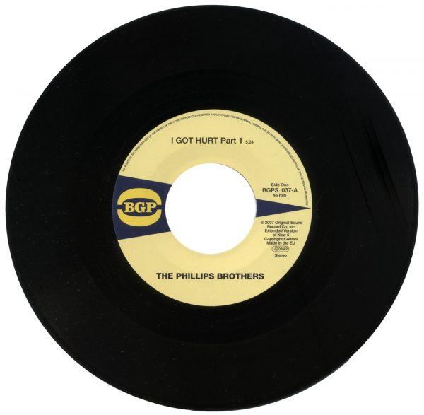 """Phillips Brothers - I Got Hurt Part 1 / I Got Hurt Part 2 45 (BGP) 7"""" Vinyl"""