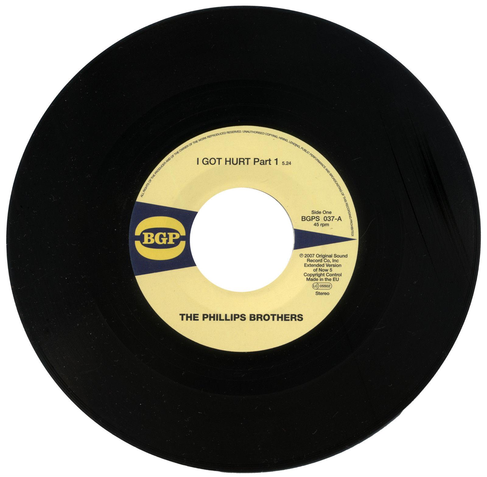 Phillips Brothers – I Got Hurt Part 1 / I Got Hurt Part 2 45 (BGP) 7″ Vinyl