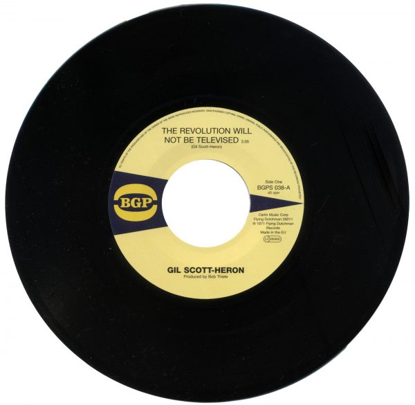 """Gil Scott-Heron - The Revolution Will Not Be Televised / Home Is Where The Hatred Is 45 (BGP) 7"""" Vinyl"""