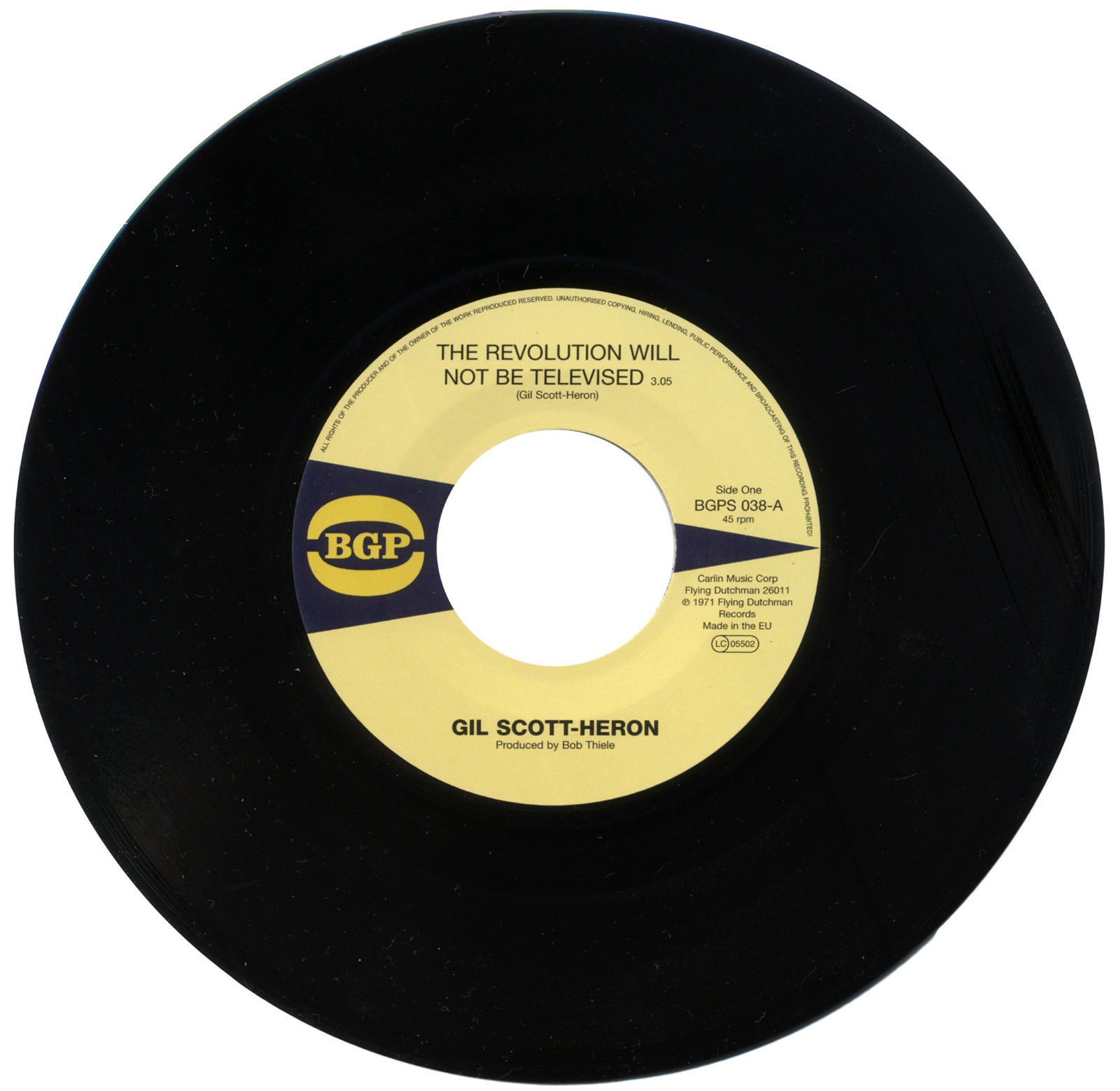 Gil Scott-Heron – The Revolution Will Not Be Televised / Home Is Where The Hatred Is 45 (BGP) 7″ Vinyl