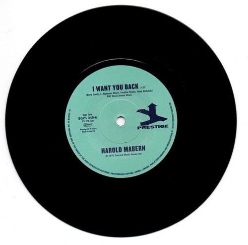 """Harold Mabern - I Want You Back / Funk Inc - Sister Janie 45 (BGP) 7"""" Vinyl"""