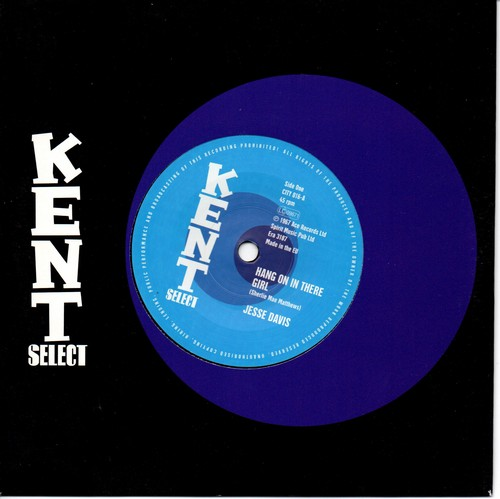"Jesse Davis - Hang On In There Girl / (Instrumental) 45 (Kent) 7"" Vinyl"