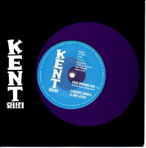 """Clarence Daniels & Obie Jesse - Hard Working Girl / Floyd White – Another Child Lost 45 (Kent) 7"""" Vinyl"""