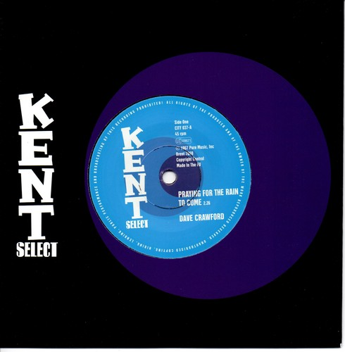 """Dave Crawford - Praying For The Rain To Come / Jeannie Trevor - Tinklin' Bells 45 (Kent) 7"""" Vinyl"""