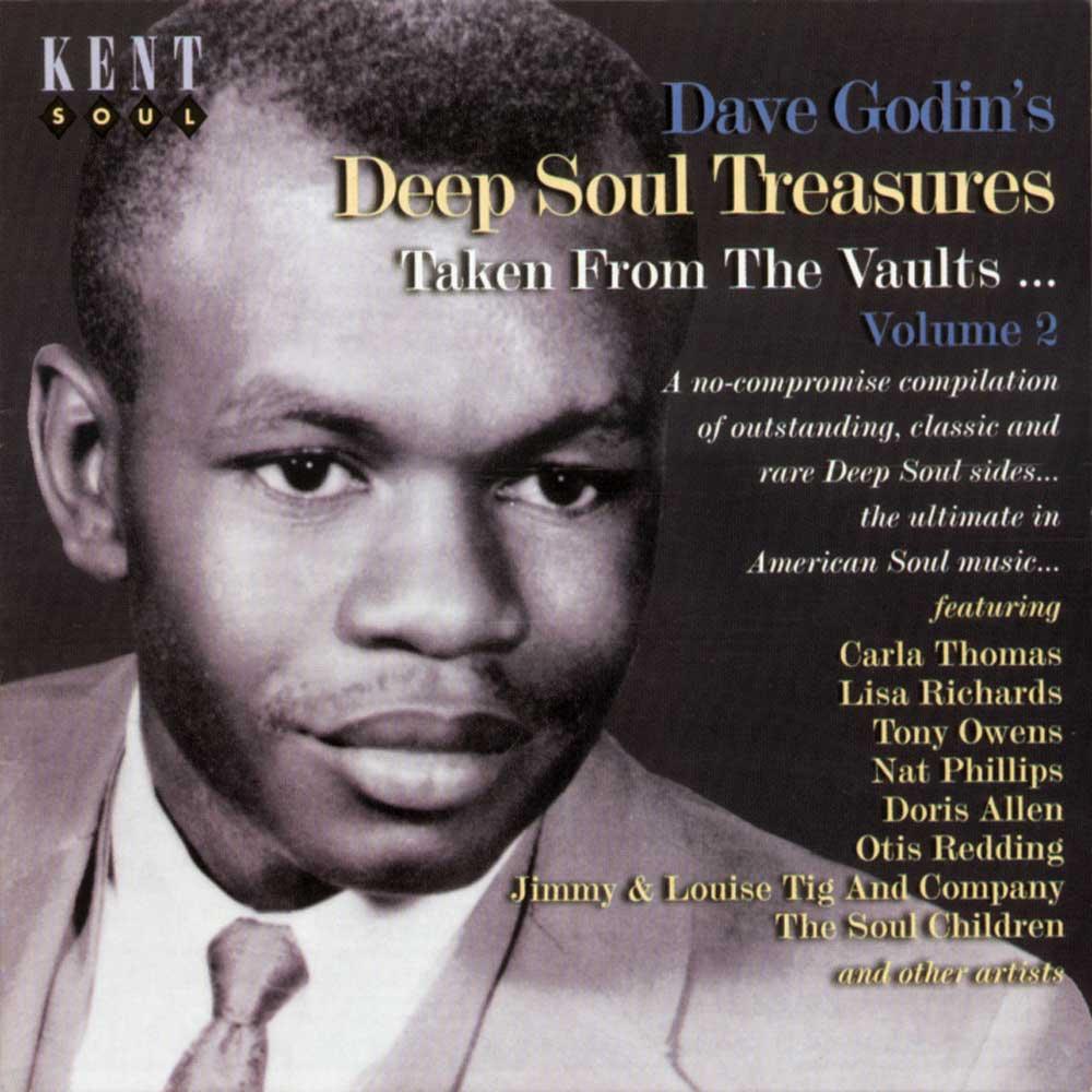 Dave Godin's Deep Soul Treasures Volume 2 – Various Artists CD (Kent)