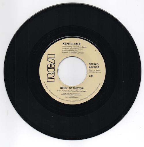 "Keni Burke - Risin' To The Top / Hang Tight 45 (Expansion) 7"" Vinyl"