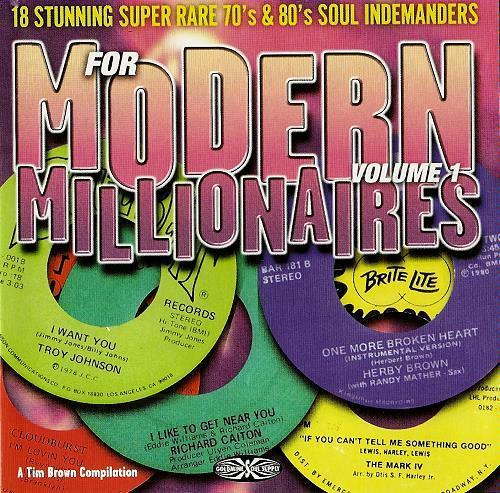 For Modern Millionaires Volume 1 CD (Goldmine Soul Supply)