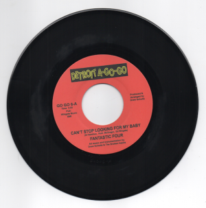"""Fantastic Four - Can't Stop Looking For My Baby / Pin Point It Down 45 (Detroit A Go Go) 7"""" Vinyl"""