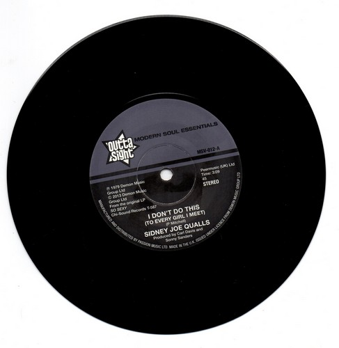 Sidney Joe Qualls - I Don't Do This / Run To Me 45 (Outta Sight) 7' Vinyl