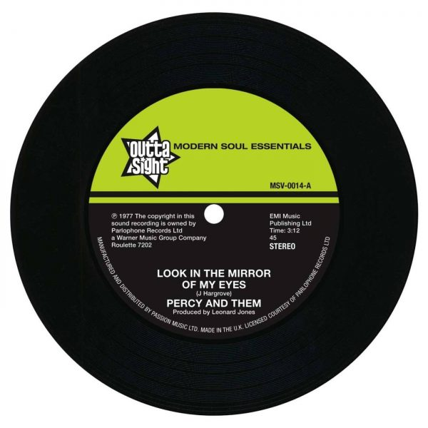 """Percy & Them - Look In The Mirror Of My Eyes / Trying To Find A New Love 45 (Outta Sight) 7"""" Vinyl"""