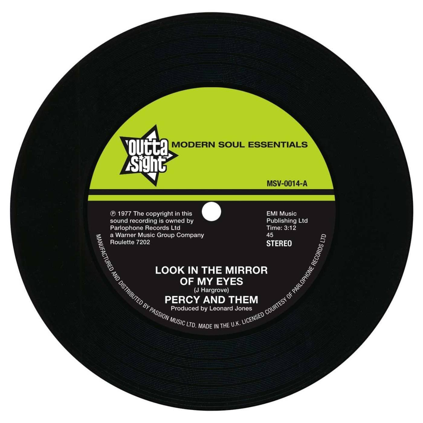 Percy & Them – Look In The Mirror Of My Eyes / Trying To Find A New Love 45 (Outta Sight) 7″ Vinyl