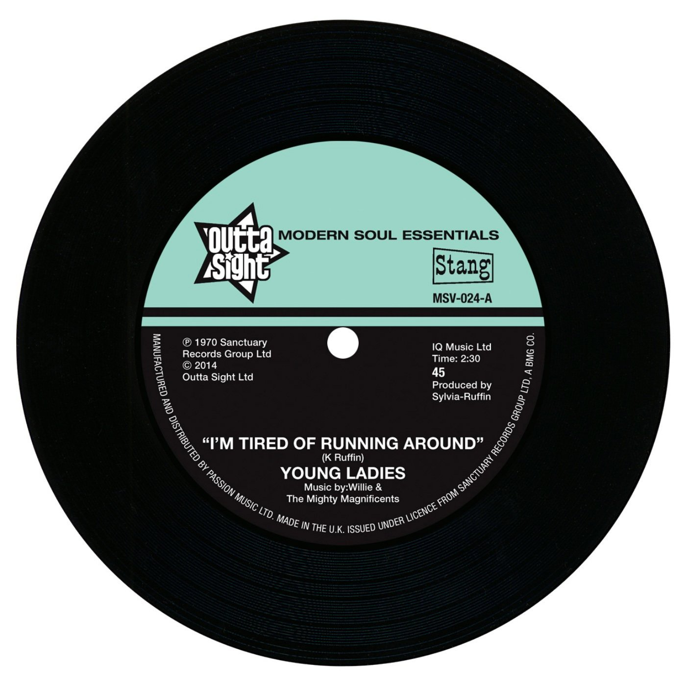 Young Ladies – I'm Tired Of Running Around 7″