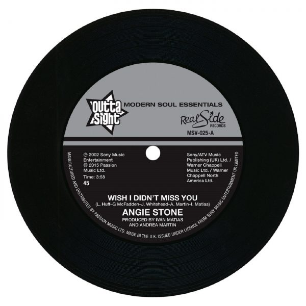 """Angie Stone - Wish I Didn't Miss You / (Hex Hector Remix) 45 (Outta Sight) 7"""" Vinyl"""